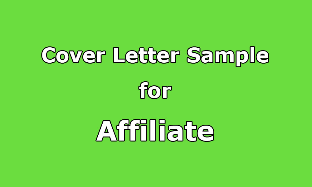 Affiliate Marketing Manager Cover Letter Affiliate Marketing ...