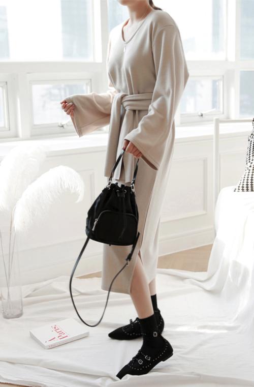 Self-Tie Strap Detail Dress