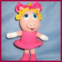 Miss Piggy amigurumi