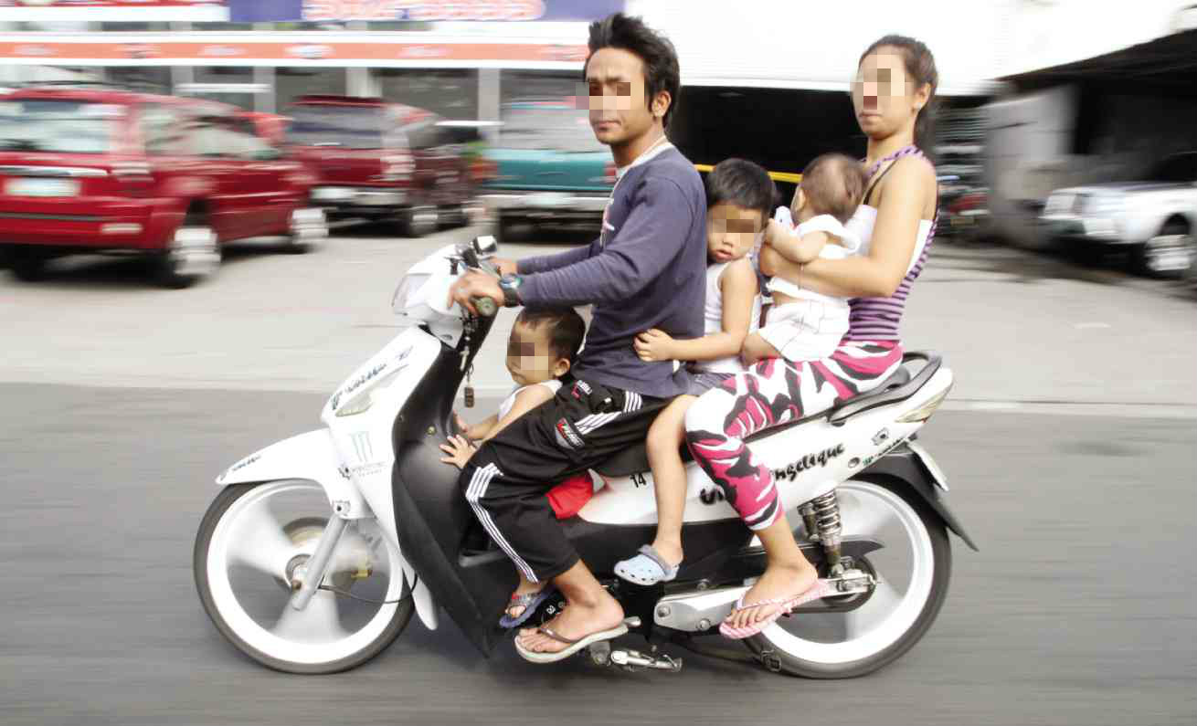 Kids below 18 prohibited from riding motorcycle