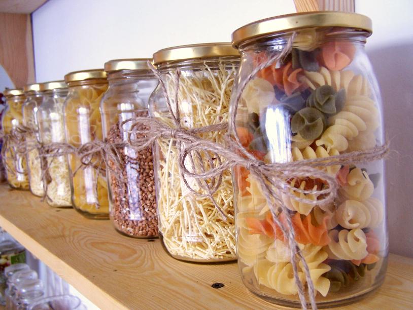 My Home Projekt Kuchnia Kolorowe Słoiki Z Makaronami Diy