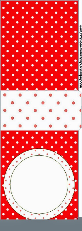 Tic Tac Labels for a Red and White Polka Dots.