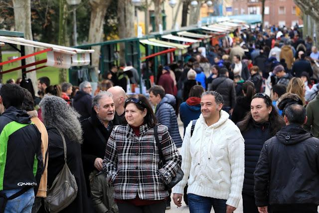 Feria de comercio en las fiestas de San Vicente