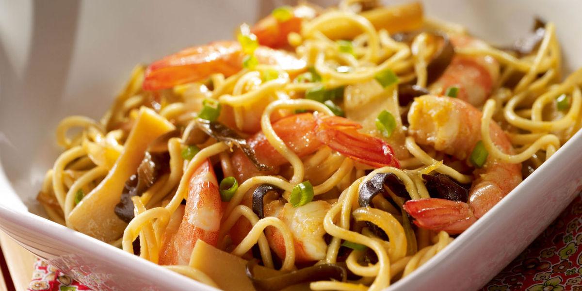 Noodles Con Gambas Varomeando Manuel Apir