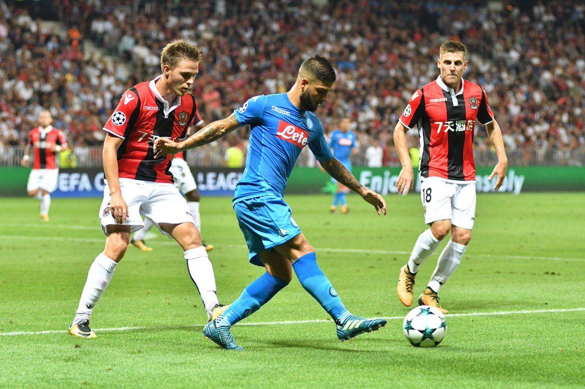 Nizza-Napoli 0-2, Callejon e Insigne mandano la squadra nelle urne dei sorteggi di Champions League