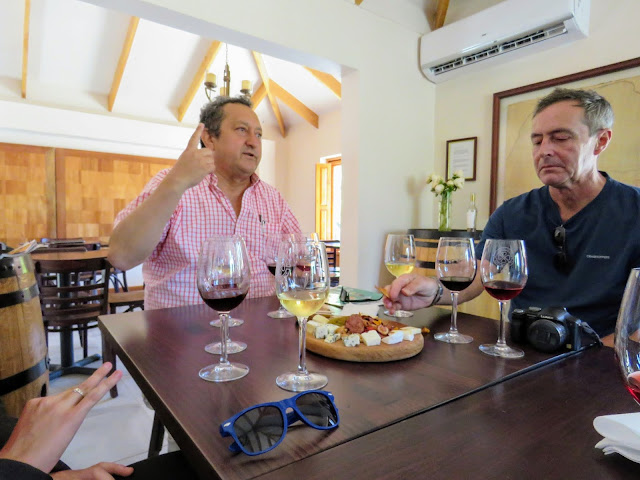 Day trips from Santiago Chile: Don Rodrigo leads a wine tasting at El Escorial