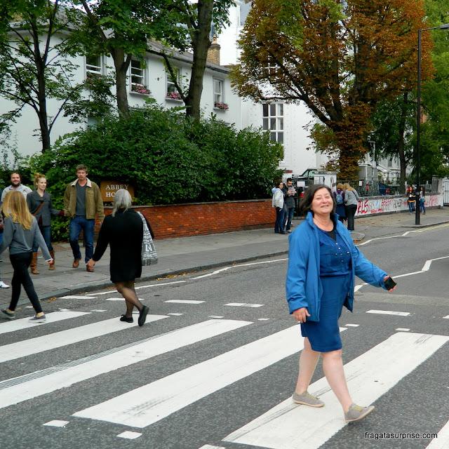 Travessia da faixa de pedestres de Abbey Road, Londres