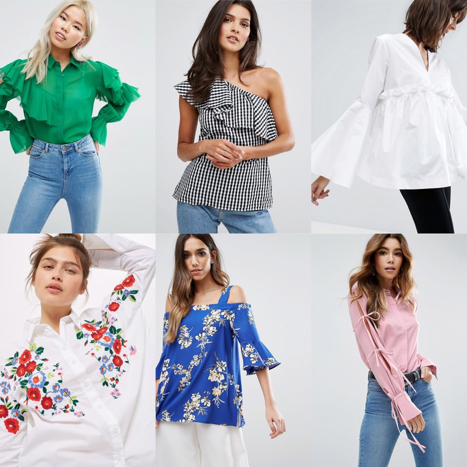 Fashion style Trend Trendsspring ruffled blouses for girls