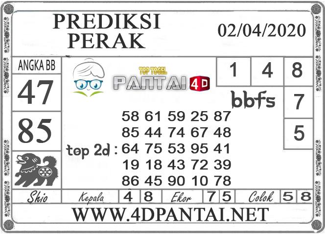 PREDIKSI TOGEL PERAK PANTAI4D 02 APRIL 2020