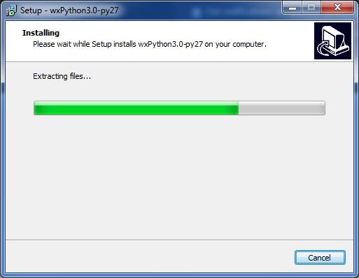 installing wxPython