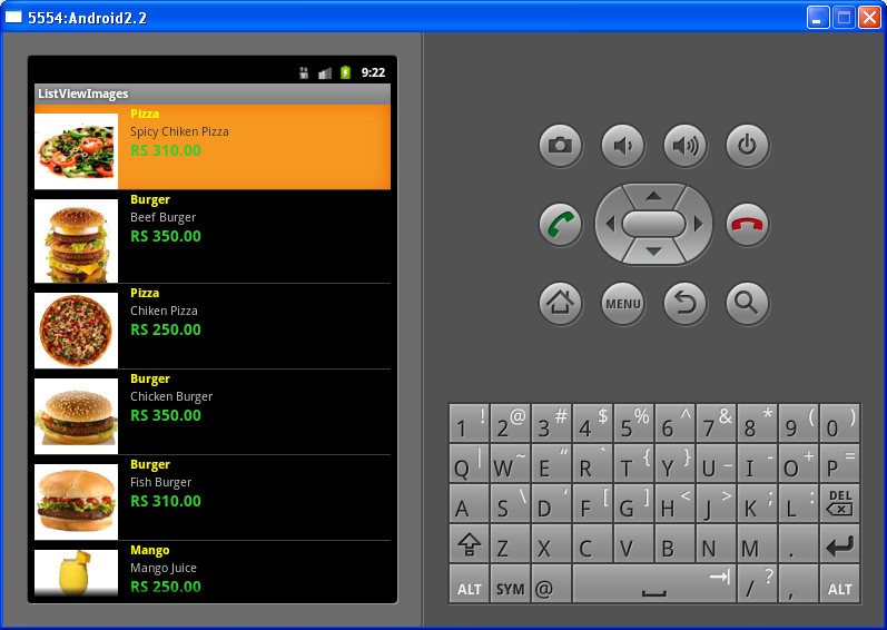 Android ListView example with Image and Text   Java Code