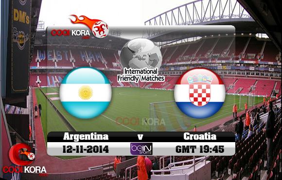 مشاهدة مباراة الأرجنتين وكرواتيا الودية بث مباشر argentina