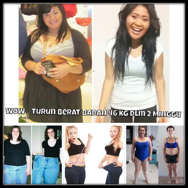 WOW ..!!! Wanita Ini Turun Berat nya Dari 98 Kilo Menjadi 56 Kilo Dalam Waktu Hanya 2 Minggu .. Mau Tau Rahasia nya ???