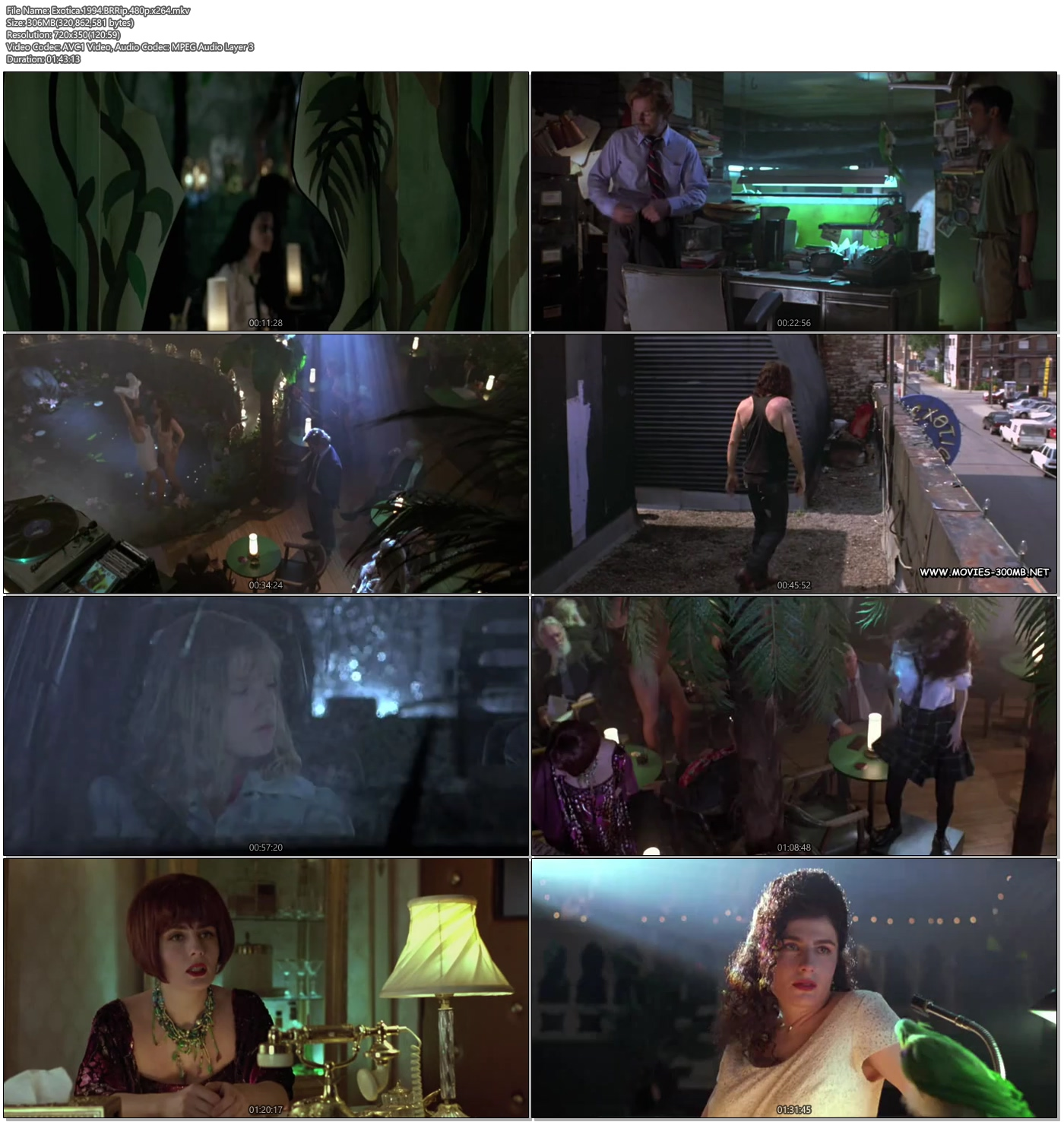 Exotica 1994 BRRip 480p 300MB Movie Donwnload Screenshot