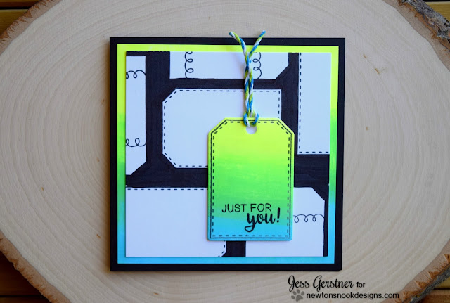 Neon Tag Card by Jess Gerstner for Newton's Nook Designs
