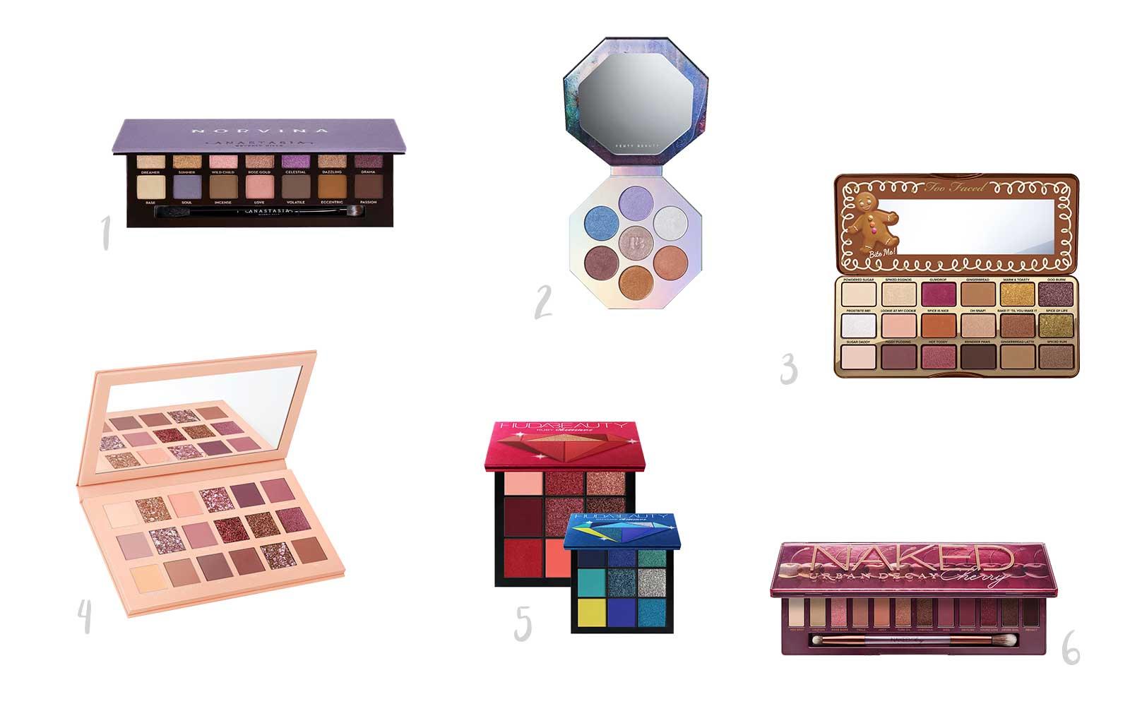 Noël idées cadeaux beauty addict palettes