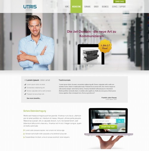 UTRIS Hosting Template
