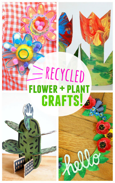 Creative Recycled Plant and Flower Projects for Kids- Easy, affordable, and fun ways to be creative!