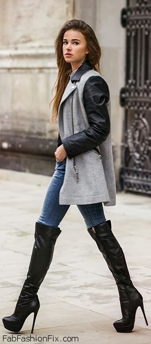 What To Wear With Knee High Boots Going Out - KiziFashion