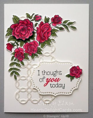 Heart's Delight Cards, Climbing Roses, Rose Trellis Thinlits, Thinking of You, Occasions 2019, Stampin' Up!