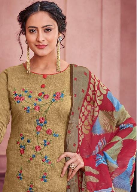 Kesari Trendz Alisa vol 3 Jam Silk Salwar Kameez