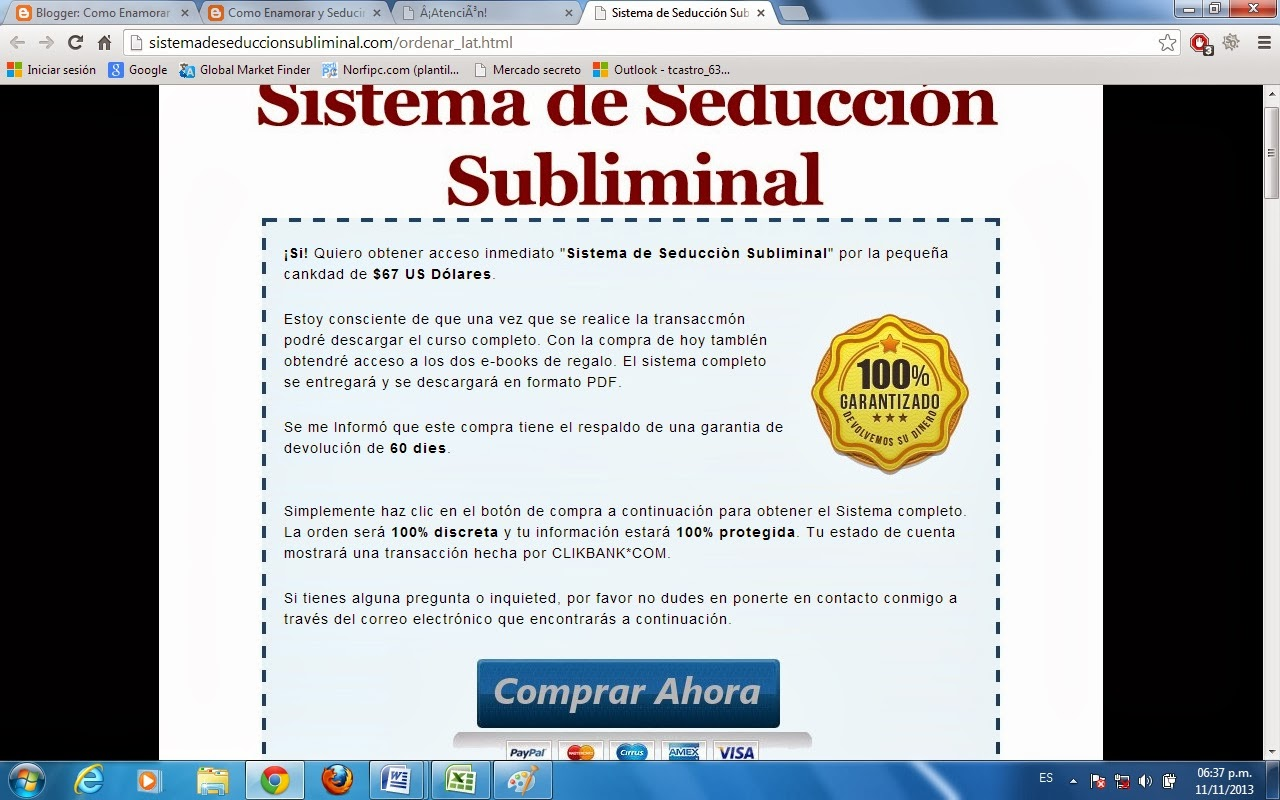 Como comprar sistema de seducción subliminal