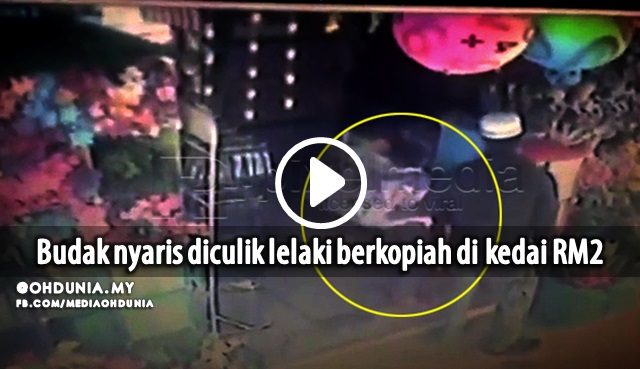 Video: Budak Hampir Diculik Lelaki Berkopiah Di Kedai RM2