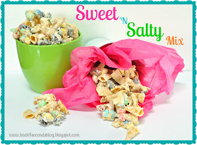 Sweet and Salty Snack Mix #chexmix #sweetandsalty #candy