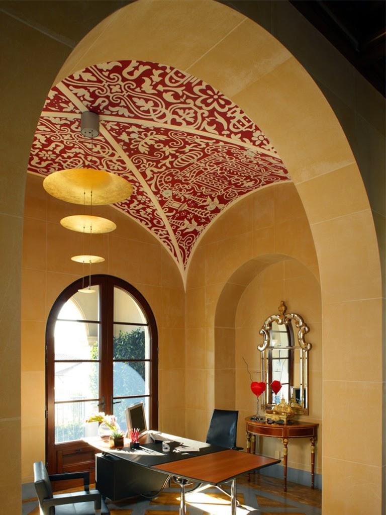 ogiva pictata rosu, profile decorative personalizate pentru tavan