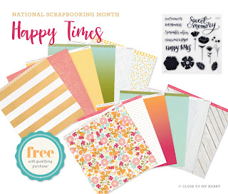 CTMH Happy Times Paper Pack May Special