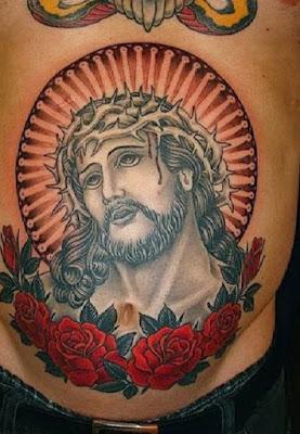 Jesus Religious chest tattoos for men
