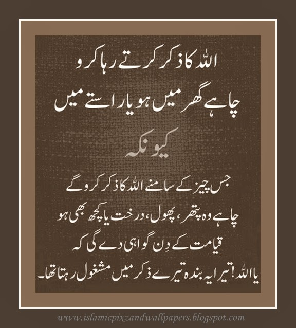 Islamic Pictures And Wallpapers: Urdu Aqwal-e-zareen