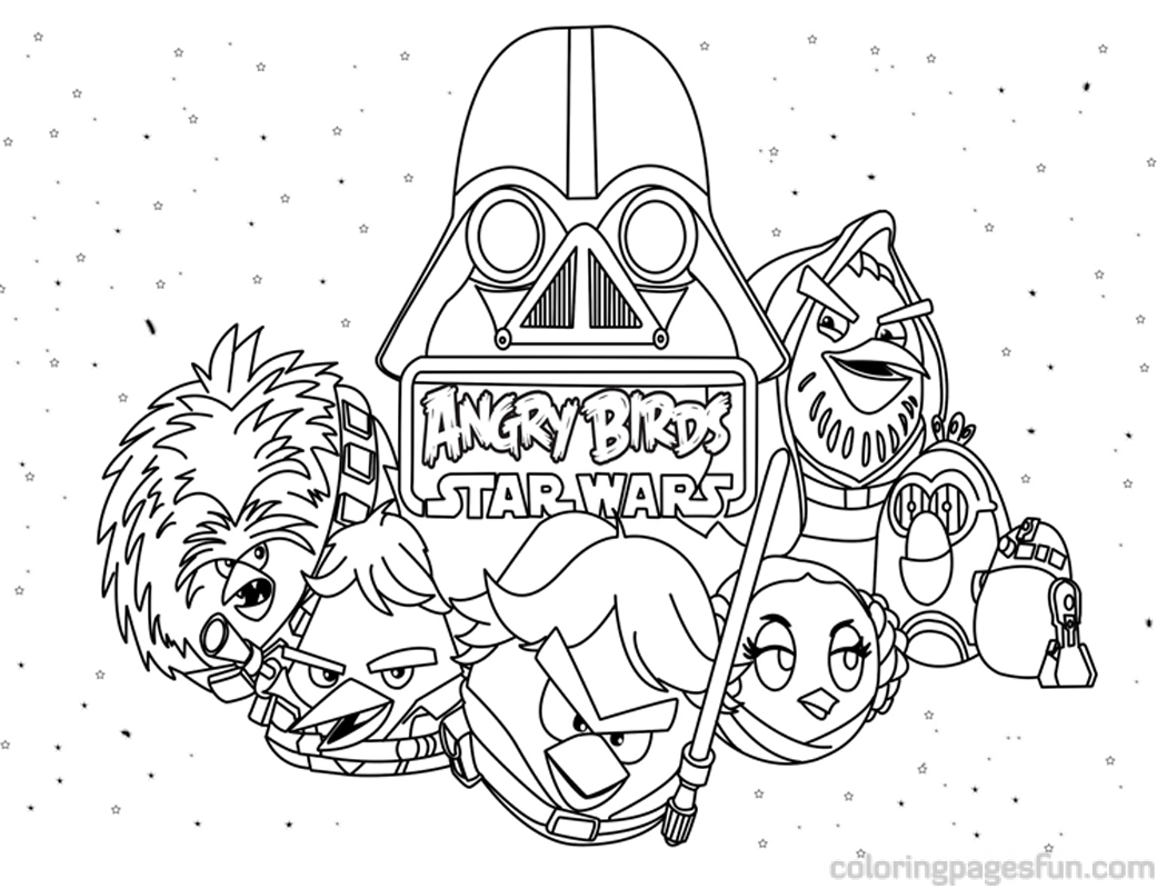 Angry Birds Star Wars Coloring Pages To Print