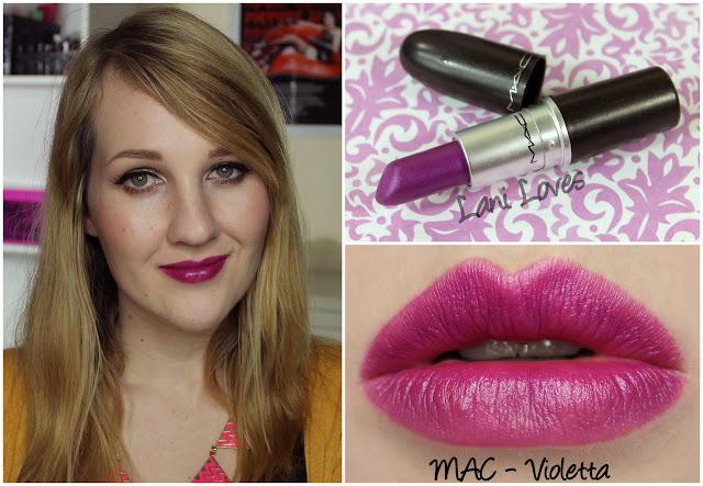 MAC Violetta lipstick swatch