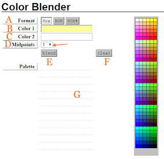 Color Blender interface