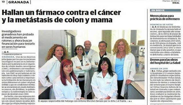 El mundo está de fiesta: Investigadores encuentran Fármaco contra el Cáncer de Colon, Mama y melanoma (piel)