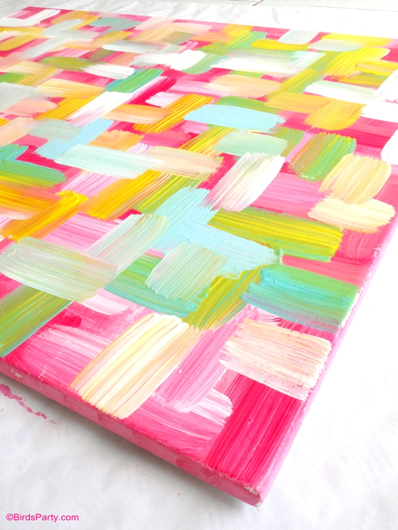 Easy DIY Wall Art Painted Canvas - Party Ideas | Party ...