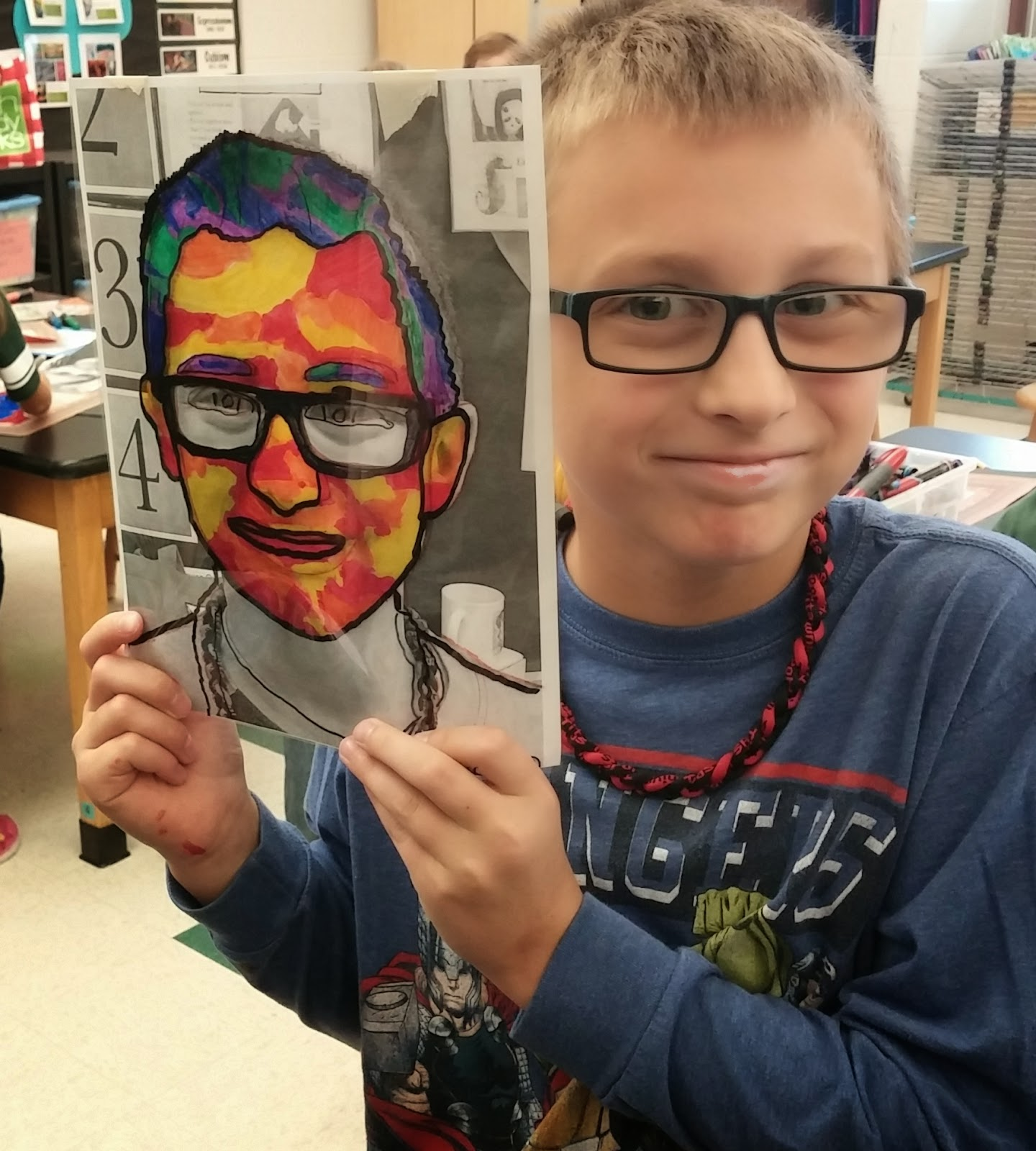 Mrs Gasser 4th Grade: Art With Mrs. Seitz: Heather Galler Self-Portraits