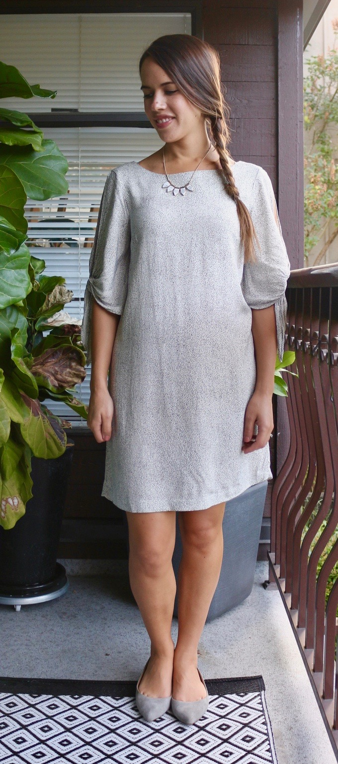 Jules in Flats - H&M Tie-Sleeve Dress