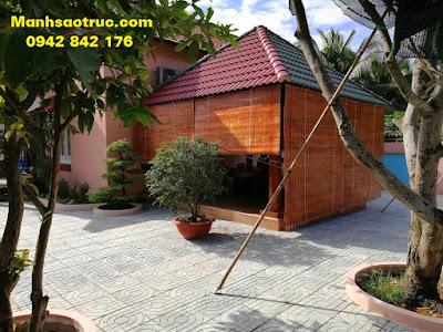 Mành tre nhà gỗ