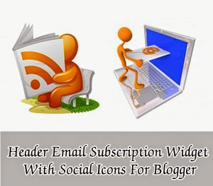 Add Email Subscription Box In Header With Social Icons : eAskme
