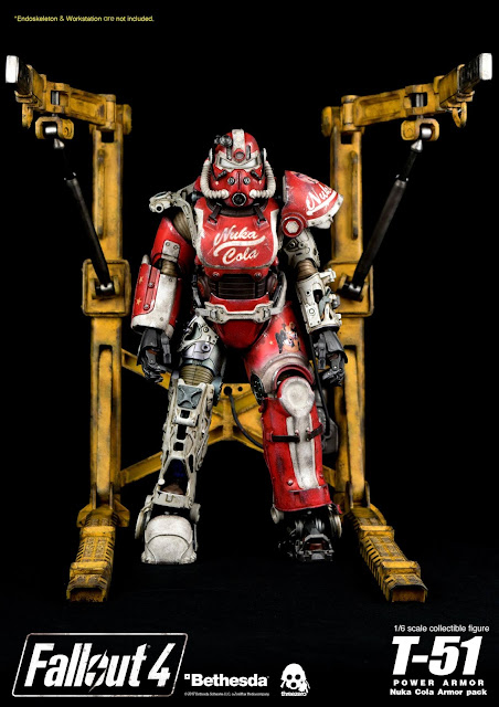 "osw.zone Preview Threezero 1 / 6th scale Fallout 4: T-51 Power Armor Nuka Cola Armor Pack ""Coke Is It"""