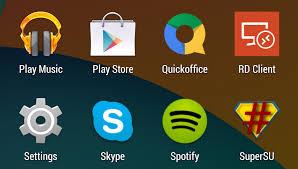 SuperSU sudah muncul list menu android anda