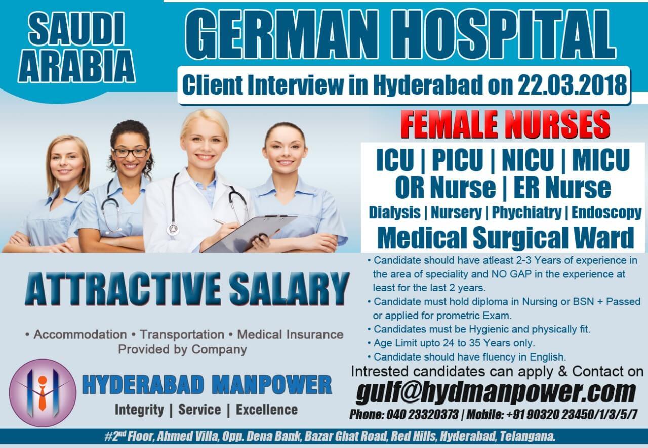 Large Job Opportunities For German Hospital Saudi Arabia Attractive Salary