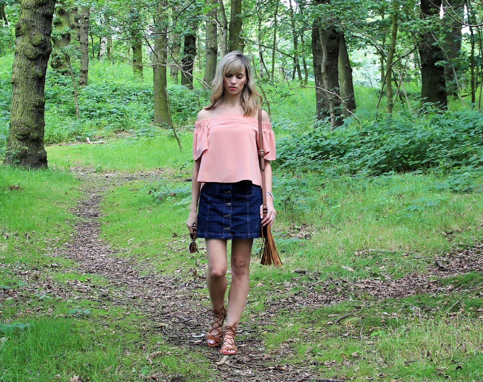 The Casual Bardot 1 - OOTD featuring Topshop off the shoulder top
