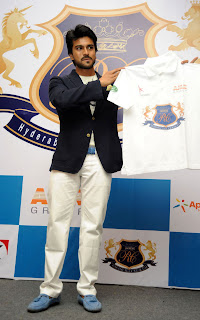 Ram Charan displaying his polo team