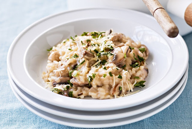 healthy breakfast lunch and dinner, weeks to your best body ever, mushroom and quinoa risotto, heathly recipes for breakfast lunch and dinner