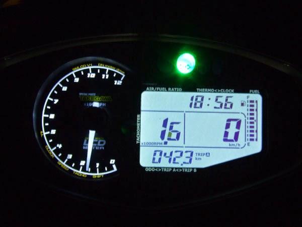 アドレスV125G 武川スーパーマルチLCDメーター ウインカーインジケーター点灯