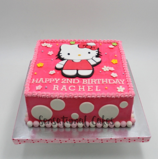 The Sensational Cakes Pink Hello Kitty Cream Cake Girl Birthday