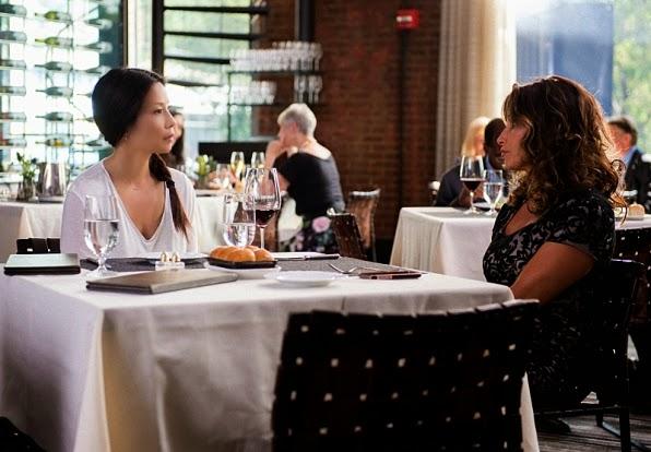 Guest star Gina Gershon as Allison March, a suspected leader of a criminal enterprise in CBS Elementary Season 3 Episode 1 Enough Nemesis To Go Around